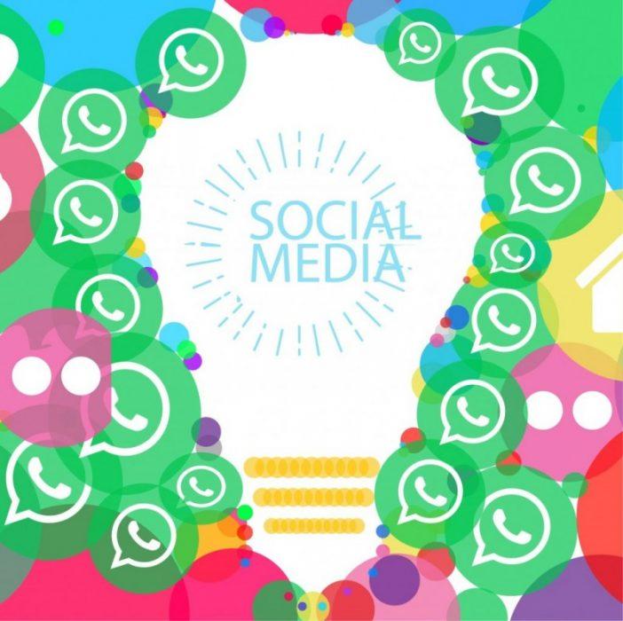 medios sociales facebook whatsapp linkedin
